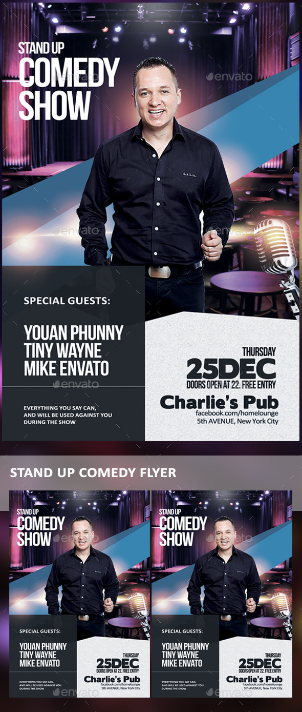 GraphicRiver Stand Up Comedy Flyer 9609449