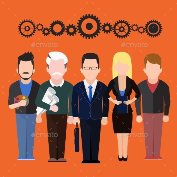 GraphicRiver Set of People Different Professions 9609481