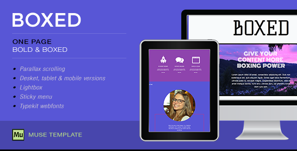 Boxed - One Page Muse Template