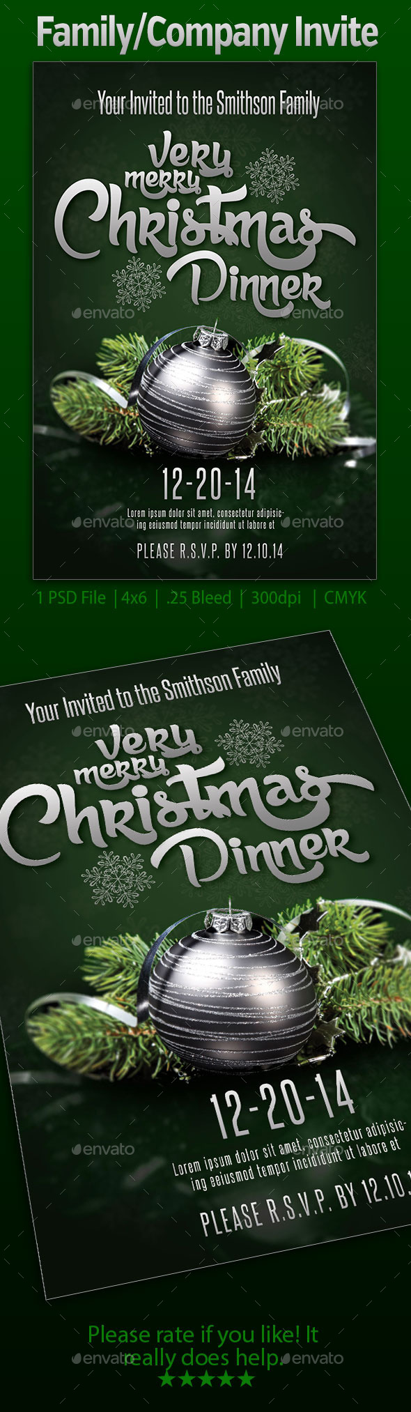 GraphicRiver Family Company Invite 9609707