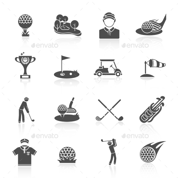 GraphicRiver Golf Icons 9609734
