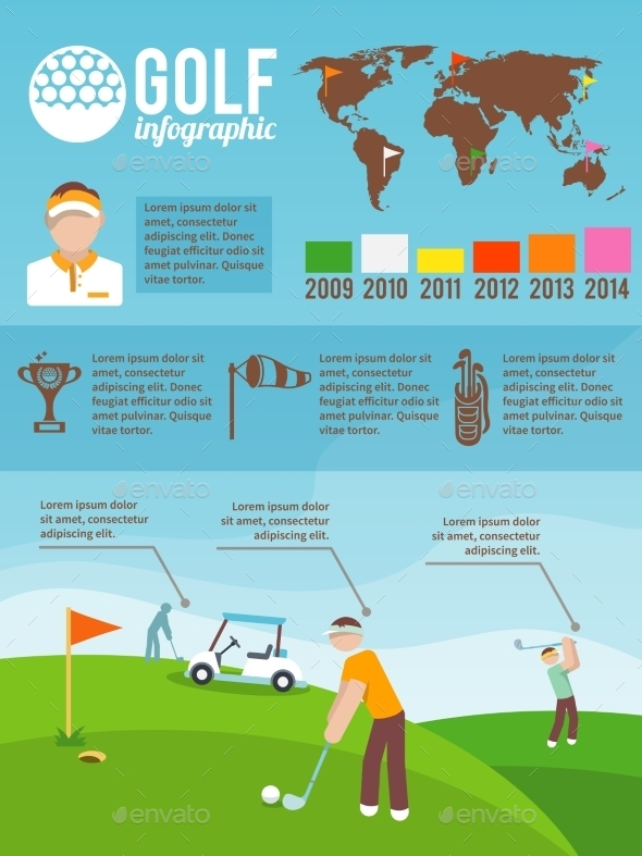 GraphicRiver Golf Infographics Set 9609735