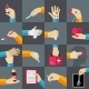 Medical hands flat icons set - GraphicRiver Item for Sale