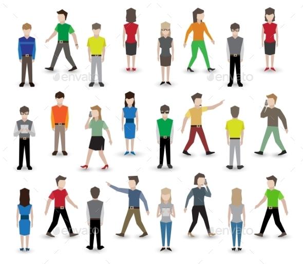 GraphicRiver People Pixel Avatars 9609743