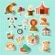 Circus Stickers Set - GraphicRiver Item for Sale