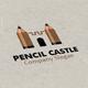 Pencil Castle Logo - GraphicRiver Item for Sale