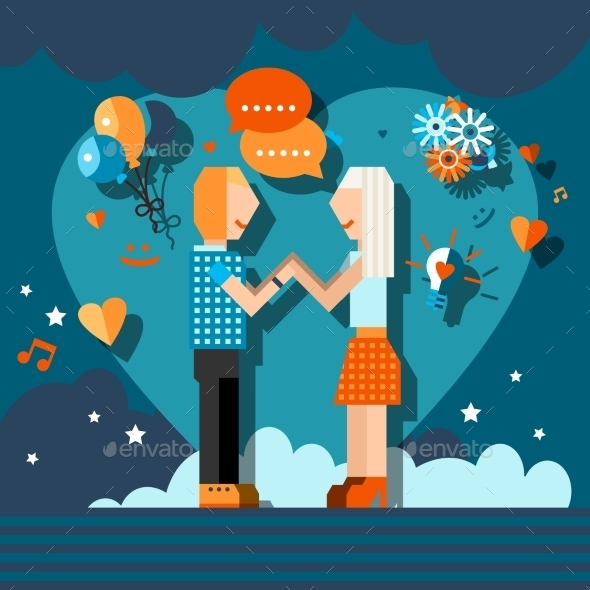GraphicRiver Loving Couple Chat 9609940