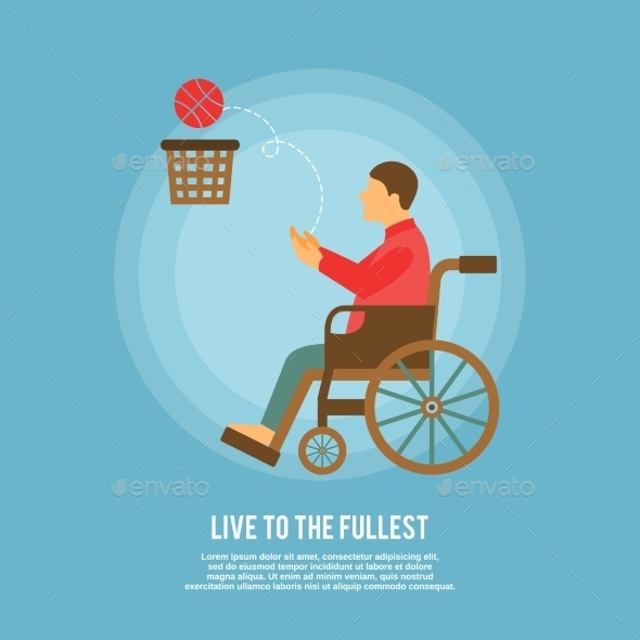 GraphicRiver Wheelchair Basketball Poster 9609954