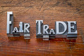 fair trade words in metal type - PhotoDune Item for Sale