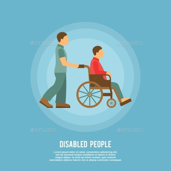 GraphicRiver Disabled Person Poster 9609958