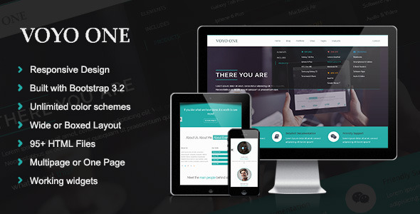 ThemeForest Voyo One Responsive Multipurpose HTML5 Template 9157567