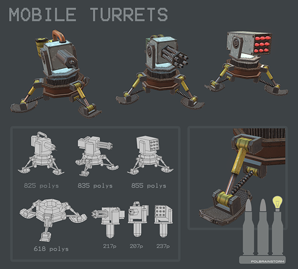 3DOcean MOBILE TURRET PACK 1 9609991