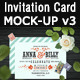 Invitation Card Mock-Up v3 - GraphicRiver Item for Sale