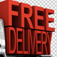 Delivery Van With Fast Delivery Letters On Back - GraphicRiver Item for Sale