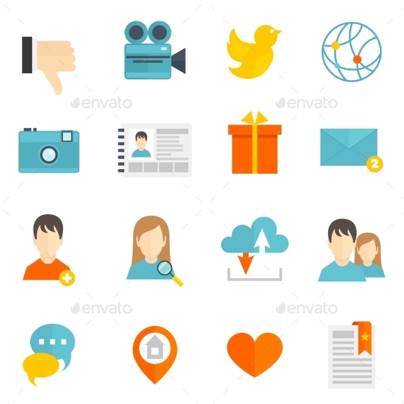 GraphicRiver Social Icons Set 9610069