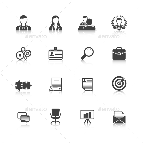 GraphicRiver Human Resources Icons 9610098