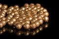 Gilded balls on a black background - PhotoDune Item for Sale