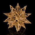 Gilded star isolated on black background - PhotoDune Item for Sale