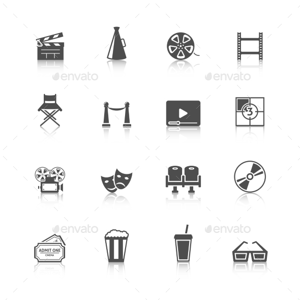 GraphicRiver Cinema Icons Set 9610109