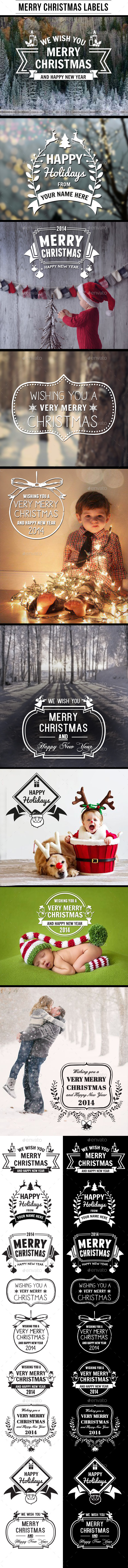 GraphicRiver Merry Christmas Labels 9610130