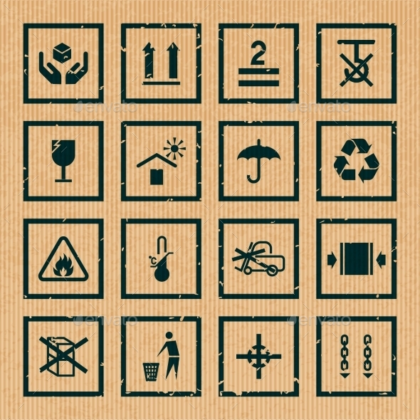 GraphicRiver Handling and Packing Symbols 9610133
