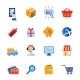 Shopping E-Commerce Icons Set - GraphicRiver Item for Sale