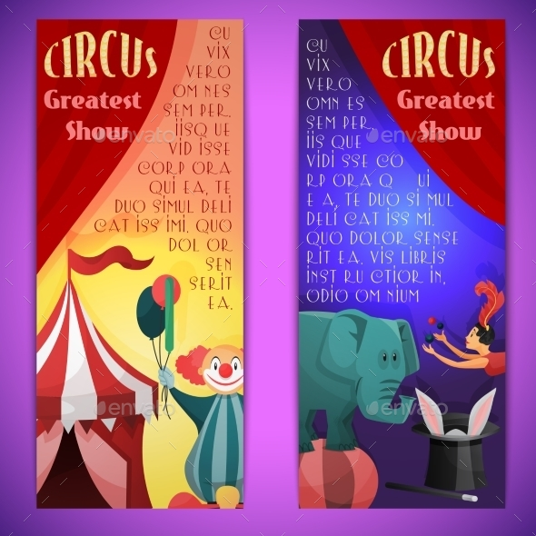 GraphicRiver Vertical Circus Banner 9610252