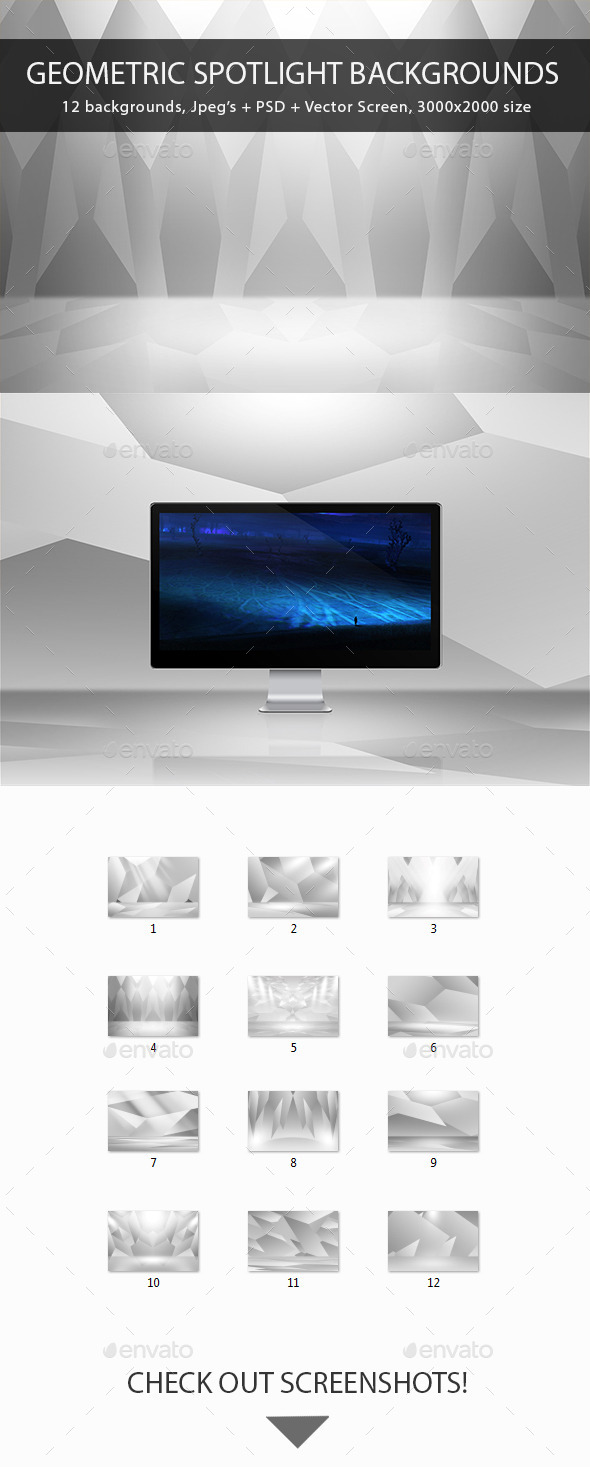 GraphicRiver Geometric Spotlight Backgrounds 9610274