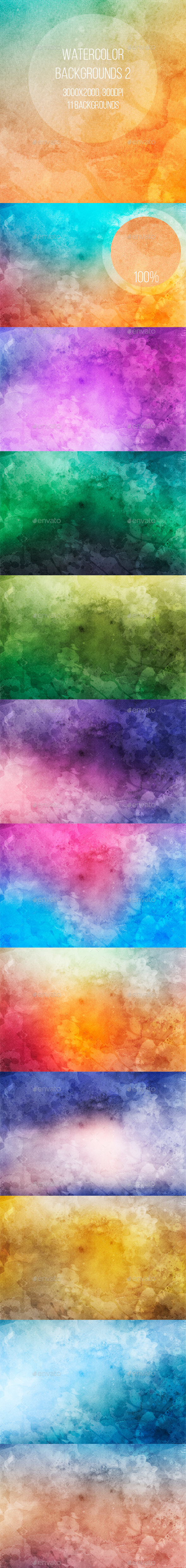 GraphicRiver Watercolor Backgrounds 2 9610280