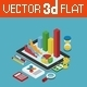 Flat 3D Isometric Business Finance Graphic - GraphicRiver Item for Sale