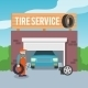 Tire Service Poster - GraphicRiver Item for Sale