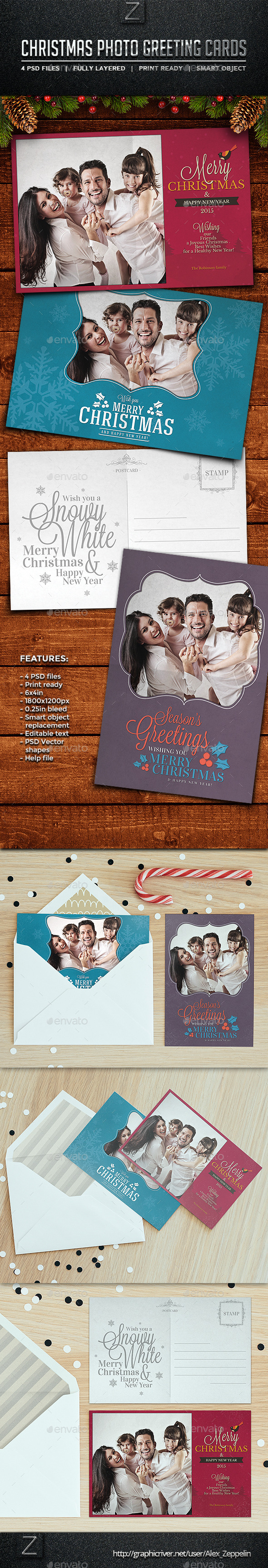 GraphicRiver Christmas Photo Cards 9610304