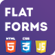 Flat Login&Register Forms Pack with JS Validations - CodeCanyon Item for Sale