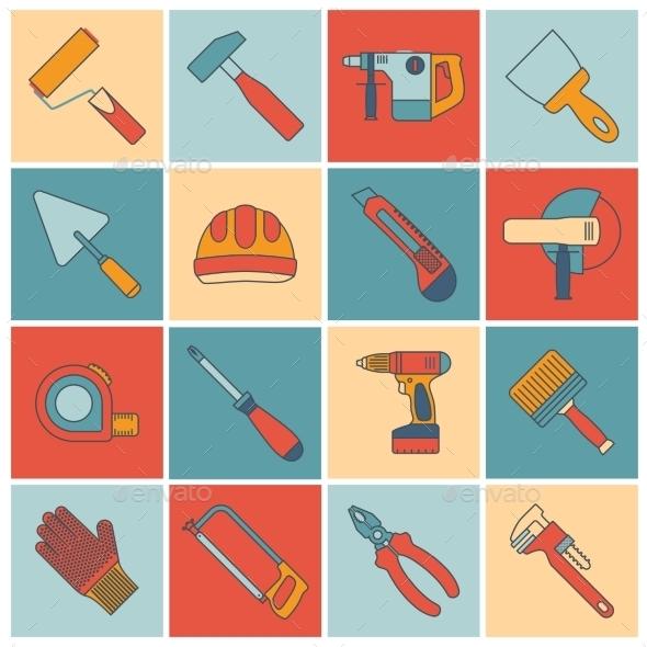 GraphicRiver Repair Construction Tools 9610364