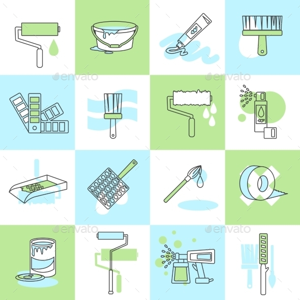 GraphicRiver Painting icons 9610388