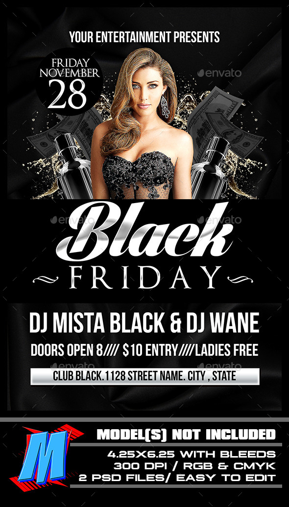GraphicRiver Black Friday Flyer Template 9610432