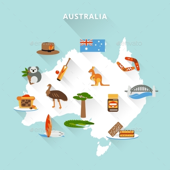 GraphicRiver Australia Tourist Map 9610444