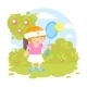 Girl Playing Tennis - GraphicRiver Item for Sale