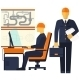 Engineer Sitting on Chair - GraphicRiver Item for Sale