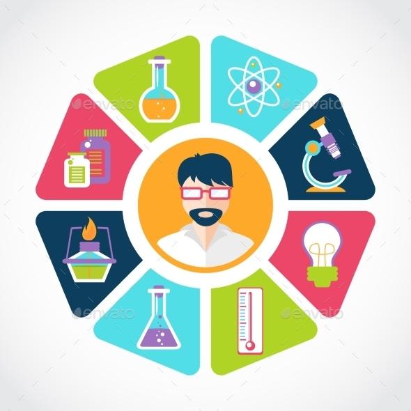 GraphicRiver Chemistry Concept Illustration 9610658