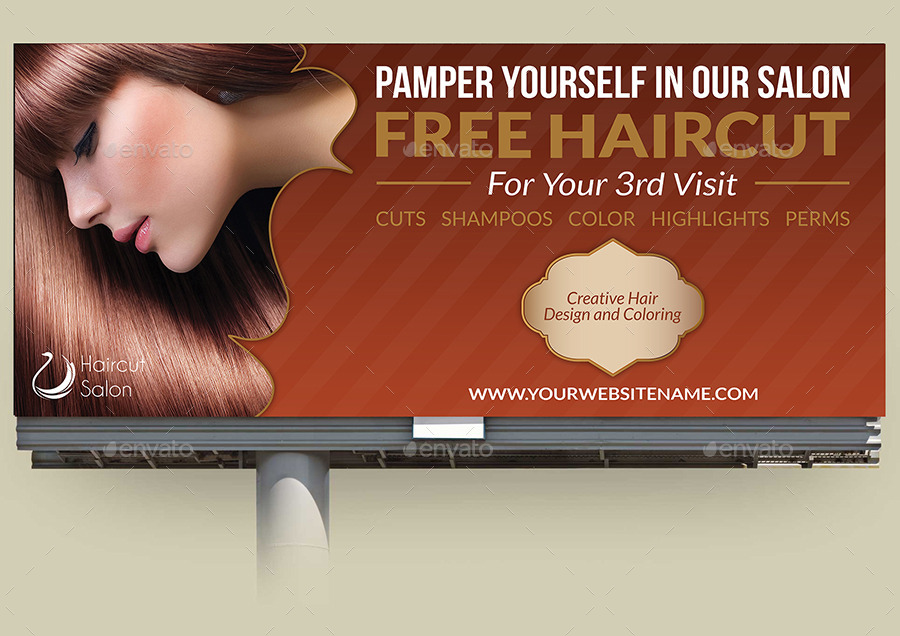 Hair salon advertisements