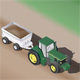 Isometric Farm Tractor w/Trailer - GraphicRiver Item for Sale