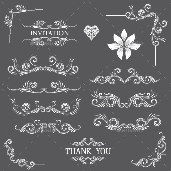 GraphicRiver Vintage Line Art Ornamental 9610684