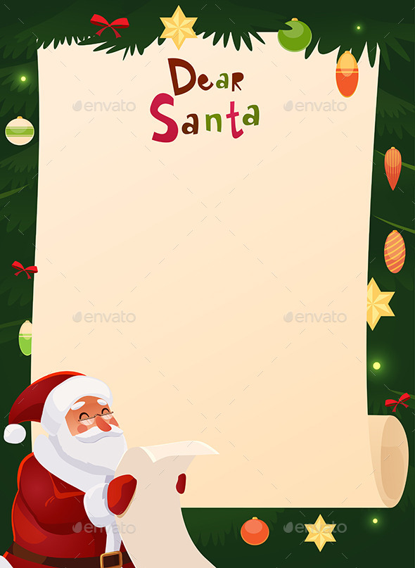 GraphicRiver Wish List Card with Santa Claus 9610706