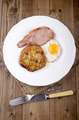 boxty with fried egg and bacon - PhotoDune Item for Sale