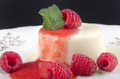 raspberry panna cotta with mint - PhotoDune Item for Sale