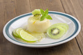kiwi lime panna cotta with mint - PhotoDune Item for Sale