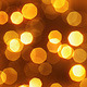 Golden Particles Bokeh Abstract Background