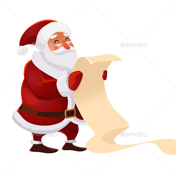 GraphicRiver Santa Claus with Wish List 9610725