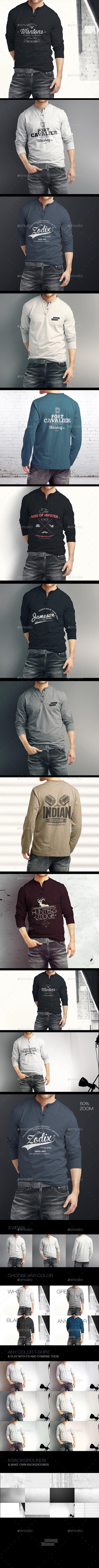 GraphicRiver Man Longsleeve Shirt Mock-up 9610861